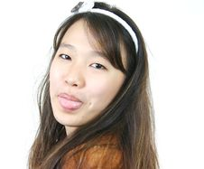 Young Attractive Asian Girl Royalty Free Stock Photography