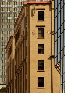 Three Buildings But No Sky, Montreal, Canada. Royalty Free Stock Photo