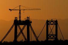 Free Narrows Bridges At Sunset Royalty Free Stock Photo - 1107755