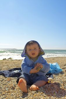 Free Baby At The Beach Royalty Free Stock Photography - 1107777
