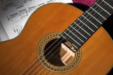 Classical Guitar Detail Stock Photography