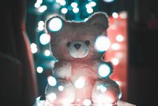 Free Bokeh Photography Of Pink Bear Plush Toy Royalty Free Stock Photos - 110046978