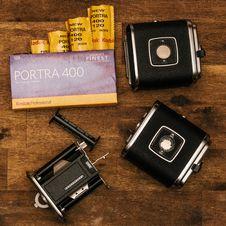 Free Kodak Porta 400 With Black Cases Royalty Free Stock Photography - 110047007