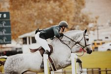 Free Person Riding Horse Royalty Free Stock Image - 110047026