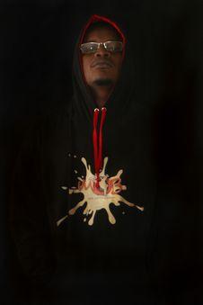 Free Man Wearing Black Pullover Hoodie Stock Photos - 110109123