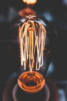 Free Close Up Photo Of Incandescent Bulb Stock Image - 110109131