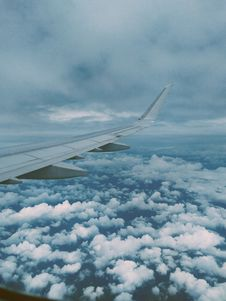 Free Airplane Wing And Thick Clouds Royalty Free Stock Images - 110174399