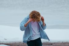 Free Person In Blue Button-up Shirt And Blue Bottoms Royalty Free Stock Photos - 110174448