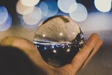 Free Crystal Ball On Person S Hand Stock Photo - 110174450