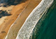 Free Aerial Photo Of Sea Shore Stock Photography - 110248542