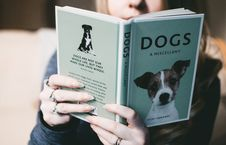 Free Woman Holding Dogs A Miscellany Book Royalty Free Stock Photos - 110248598