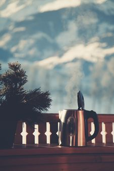 Free Selective Focus Photography Of Silver Electric Kettle Beside Gray Balustrade Stock Photo - 110418110