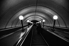 Free Escalator, Black, Black And White, Infrastructure Stock Photography - 110461362