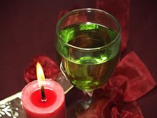 Free Glass And Candle Royalty Free Stock Photo - 11058885