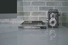 Free Photo Manual On Gray Table Royalty Free Stock Photo - 110501005