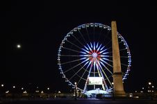 Free Photo Of London Eye, London Near Brown Concrete Monument During Night Time Stock Image - 110501081
