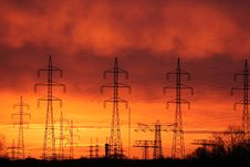 Free Sky, Electricity, Afterglow, Red Sky At Morning Stock Images - 110549564