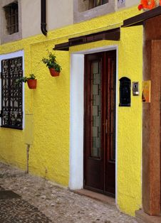 Free Yellow, Door, Wall, Architecture Stock Images - 110551134