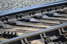 Free Track, Rail Transport, Metal, Steel Royalty Free Stock Photography - 110614437