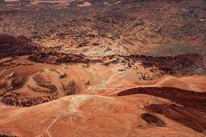 Free High Angle Shot Of Desert Mountain Stock Photography - 110654892