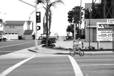 Free Man Riding Bicycle Photography Stock Photography - 110655282