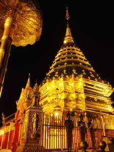 Free Low Angle View Of Temple At Night Stock Photos - 110796293