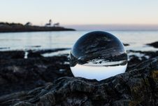 Free Clear Ball On Gray Rock Stock Photos - 110796363