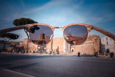 Free Sunglasses View Brown Building Stock Image - 110796431