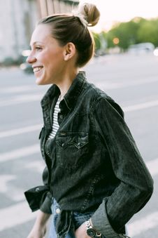 Free Selective Focus Photo Of Woman Wearing Denim Jacket Stock Photography - 110891092