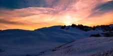 Free White Snowy Desert During Sunset Stock Photography - 110984042