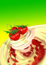 Free Strawberry In A Cream Stock Photos - 1113613
