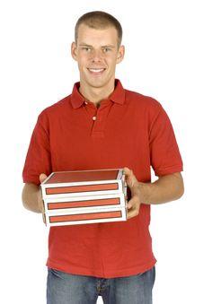 Free Pizza Deliverer Stock Images - 1110624