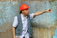 Free The Chief Of Constructions Royalty Free Stock Image - 1111006