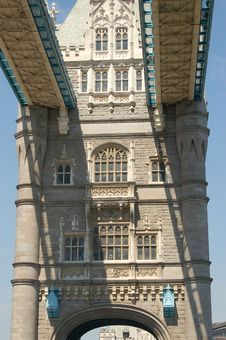 Underneath Tower Bridge Stock Photo