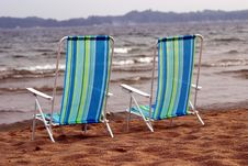 Free Beach Chairs Royalty Free Stock Photography - 1114817