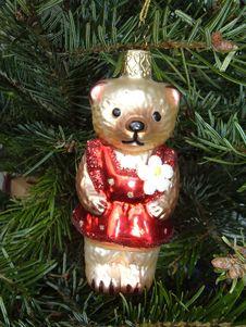 Free Christmas Bear Royalty Free Stock Photo - 1115285