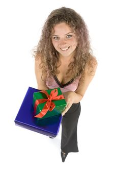 Free Woman With Gifts Royalty Free Stock Image - 1115796