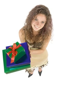 Free Woman With Gifts Stock Photos - 1115843