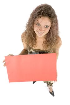 Free Woman With Message Board Stock Photography - 1115912