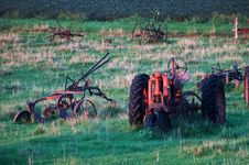 Free Old Tractors And Farm Equipment Stock Image - 1116321