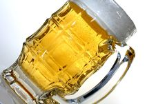 Free Beer Glass On An Angle Royalty Free Stock Image - 1118386