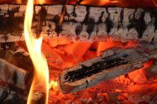 Free Flaming Embers Stock Image - 1118491