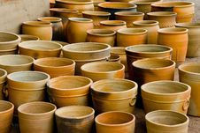 Clay Pots Royalty Free Stock Photo