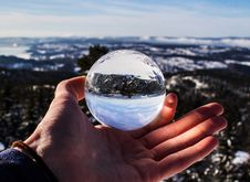 Free Round Clear Glass Ball Stock Photo - 111070100