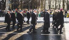 Free Group Of Men Marching Royalty Free Stock Images - 111070129