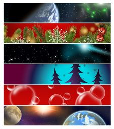Free Six Different  Banners 13 Royalty Free Stock Photo - 11112295
