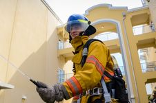 Free Photo Of Firefighter Beside Building Royalty Free Stock Images - 111169929