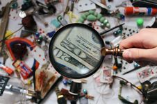 Free Close-up Photography Of Magnifying Glass Royalty Free Stock Photo - 111217155