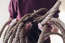 Free Close-up Photography Of Man Holding A Rope Stock Photos - 111217183