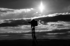 Free Grayscale Photo Of Camera Under The Sun Royalty Free Stock Image - 111217206